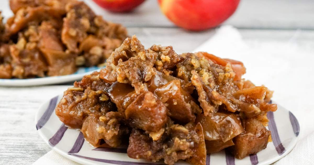 Healthy Slow Cooker Apple Crisp