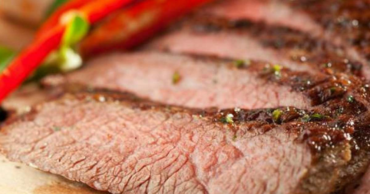 Grilled Flank Steak with Red Onions