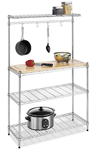 Whitmor Supreme Baker's Rack Wood & Chrome