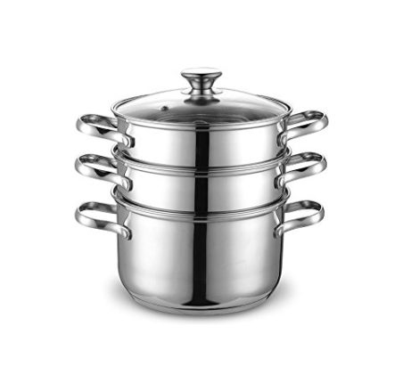 Cook N Home 4 Quart/8-Inch Double Boiler and Steam...