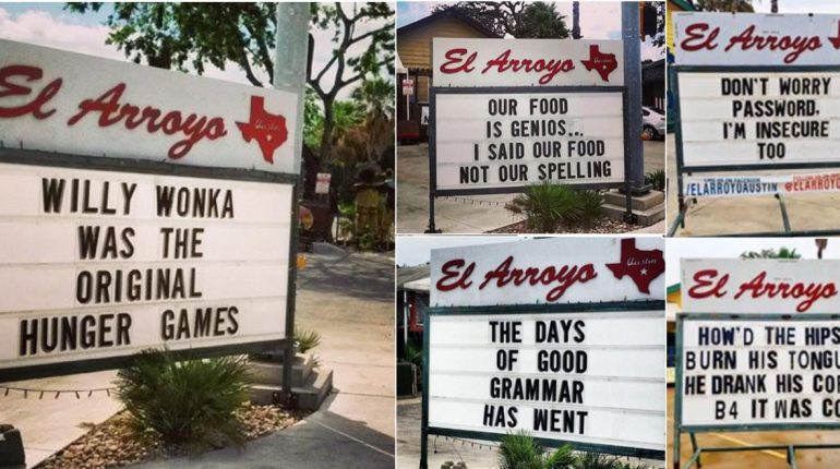 Funny Restaurant Signs in Texas
