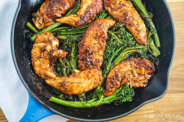 Honey Mustard Balsamic Chicken with Broccoli for dinner on Thursday in the weekly meal plan,