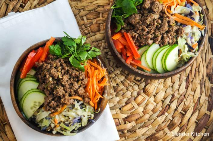 These Korean Bulgogi beef bowls with vegetables for dinner on Tuesday in this week
